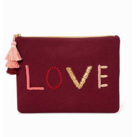 Stella&Dot Embroidered LOVE Pouch