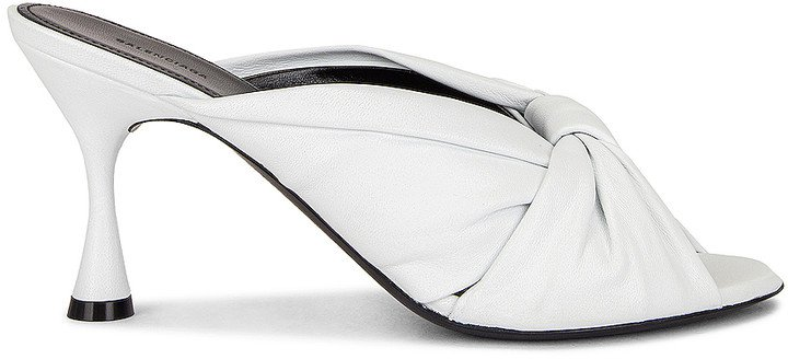 Drapy Sandals in Optical White | FWRD