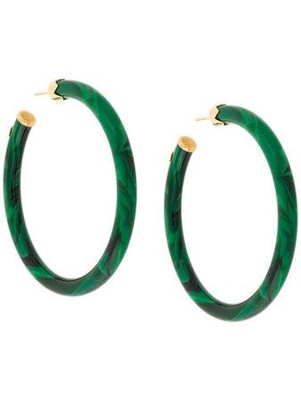 Green Gas Bijoux CAFTAN hoop earrings - Farfetch
