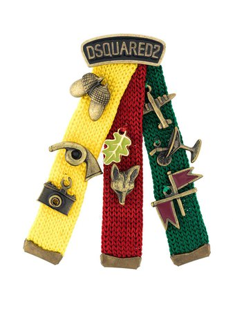 Dsquared2 Embellished Knit Badge Pin - Farfetch