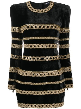 Balmain bead-embellished Mini Dress - Farfetch