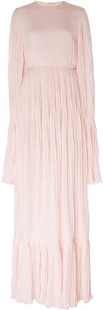 Emily Georgette Cape-Overlay Gown