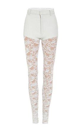 rodarte leather lace pants