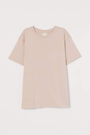 Straight-cut T-shirt - Pink