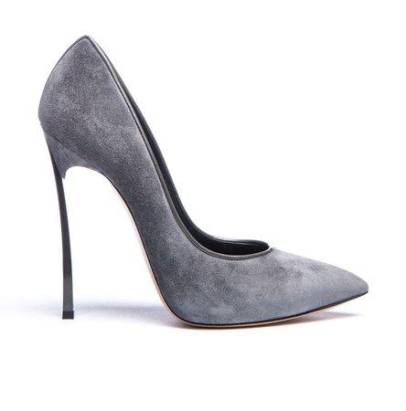 grey casadei shoes