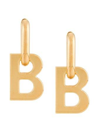 Balenciaga B-logo Earrings - Farfetch