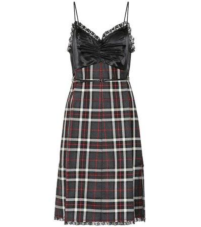Miu Miu - Sleeveless plaid dress | Mytheresa