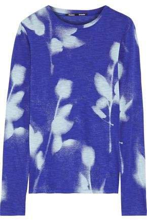 Printed Slub Cotton-jersey Top