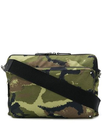 Valentino Rockstud camouflage print cross body bag