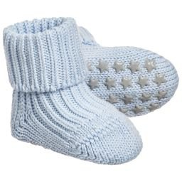 Falke - Blue Cotton Baby Slipper Socks | Childrensalon
