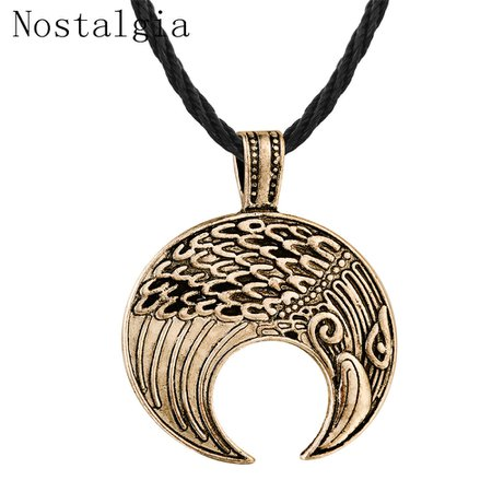 Nostalgia Vikings Crow Pendant Necklace Nordic Amulet Crescent Slavic Symbol Animal personality Men Jewelry Christmas Gift Women-in Pendant Necklaces from Jewelry & Accessories on Aliexpress.com | Alibaba Group