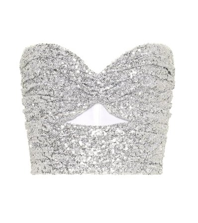Sequined bustier