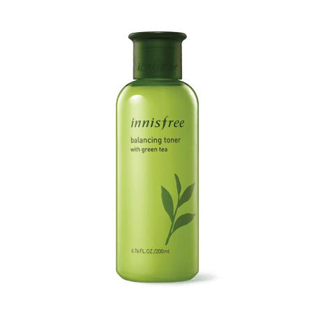 Balancing toner with green tea