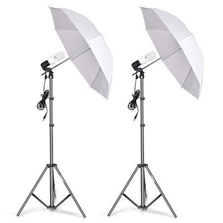 Emart Photography Umbrella Lighting Kit, 400W 5500K Photo Portrait Continuous Reflector Lights for Camera Video Studio Shooting Daylight: Amazon.ca: Camera & Photo