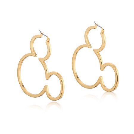 Disney Mickey Mouse Outline Hoop Earrings