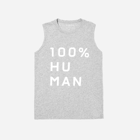 The 100% Human Muscle Tank in Large Print   Everlane
