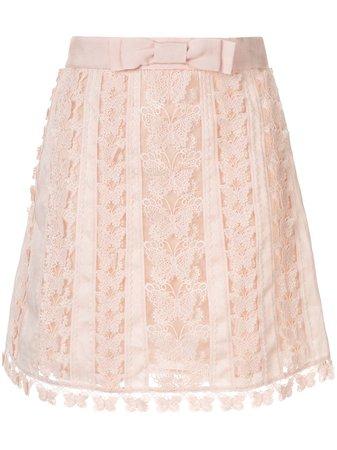 Zimmermann Super Eight Flutter Mini Skirt - Farfetch