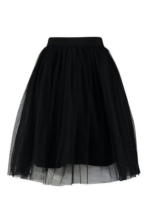 Knee Length Tulle Midi Skirt | Boohoo UK