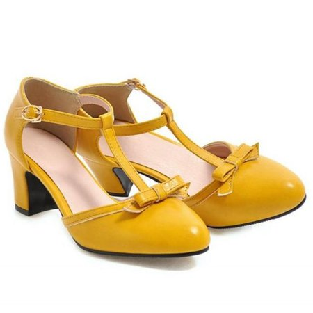 Yellow Mary Janes