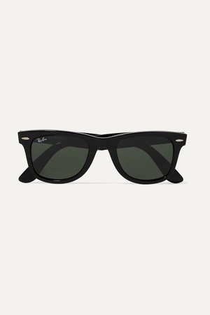Black Wayfarer square-frame acetate sunglasses | Ray-Ban | NET-A-PORTER