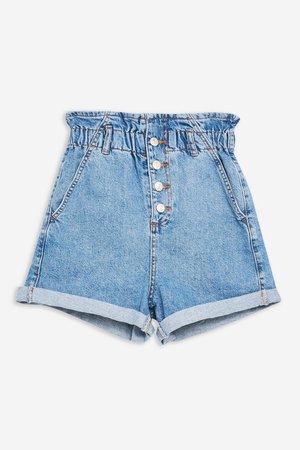TALL Paperbag Denim Shorts - Shorts - Clothing - Topshop USA