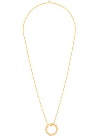 Gold Hermina Athens full moon necklace FMCCG - Farfetch