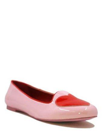 YRU Strange Cvlt Cult Lydia Red Pink Hearts Vegan Kawaii Gothic Punk Flats Shoes | eBay