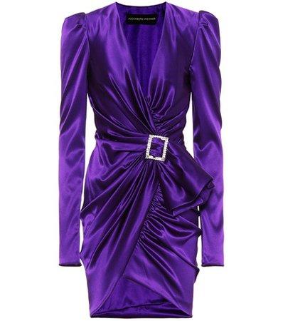 Stretch silk-satin dress