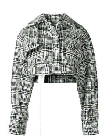 Plaid Cropped Jacket