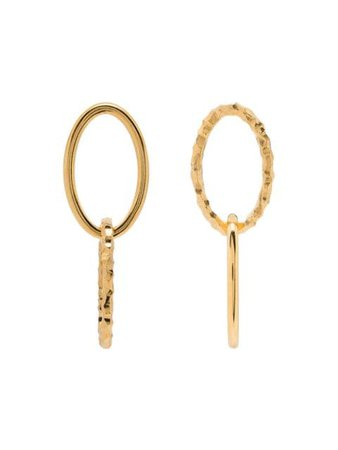 All Blues Ellipse Polished And Carved Gold Vermeil Earrings - Farfetch