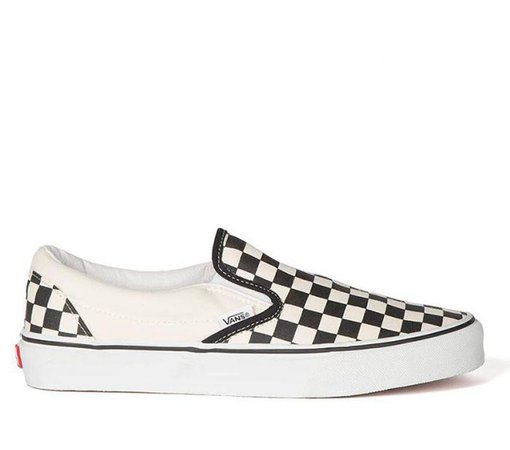 Shop Vans Classic Slip-Ons Black/White (Checkerboard) | Vans Australia