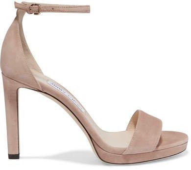 Misty 120 Suede Sandals - Neutral