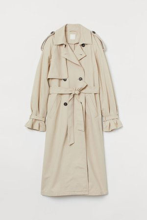 Double-breasted Trenchcoat - Beige