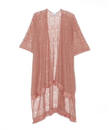 Sole Society Lace Kimono With Fringe | Sole Society Shoes, Bags and Accessories pink