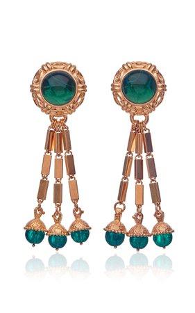 Theodora 18k Gold Plated Tassel Earrings By Markarian | Moda Operandi