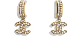 Belt, metal & strass, gold & crystal - CHANEL