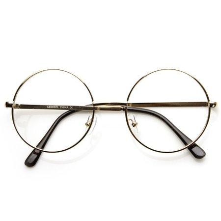 Vintage Lennon Inspired Clear Lens Round Glasses - zeroUV