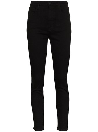 Shop black J Brand Leenah high rise skinny jeans with Express Delivery - Farfetch
