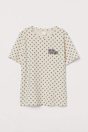Jersey T-shirt - Beige