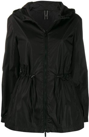 zip-up hooded parka