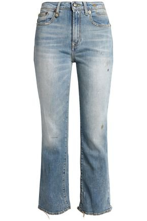 Shiloh cropped distressed mid-rise bootcut jeans | R13 | Sale up to 70% off | THE OUTNET