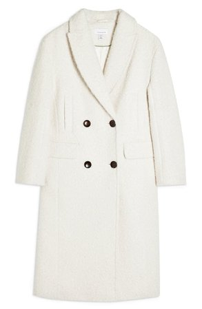 Topshop Kim Bouclé Coat (Regular & Petite) | Nordstrom