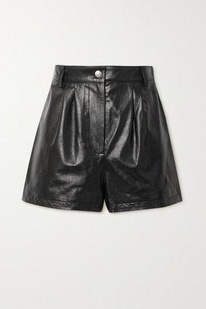 Mulholland Leather Shorts - Black