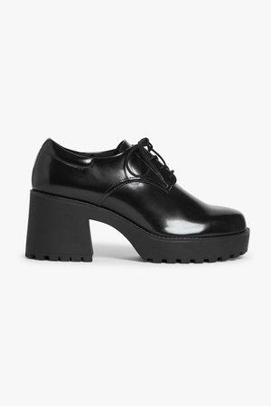 Faux leather dress shoes - Black - Boots - Monki WW