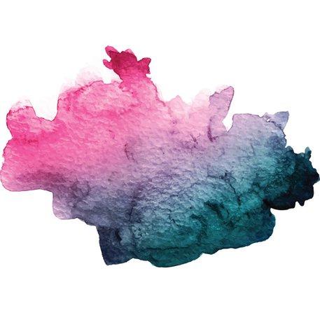 Pink and Teal Watercolor Splash Vector