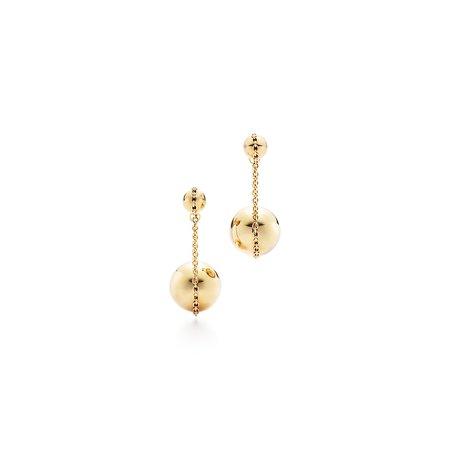 Tiffany HardWear double drop earrings in 18k gold. | Tiffany & Co.