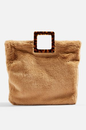 Freddy Square Faux Fur Tote Bag - Bags & Purses - Bags & Accessories - Topshop