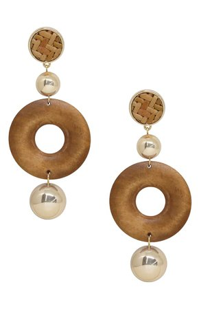 Ettika Wood Drop Earrings | Nordstrom