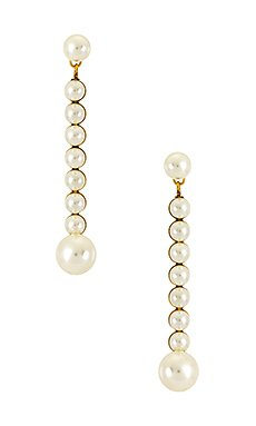 Jennifer Behr Vela Earring in Crystal Antique Gold | REVOLVE