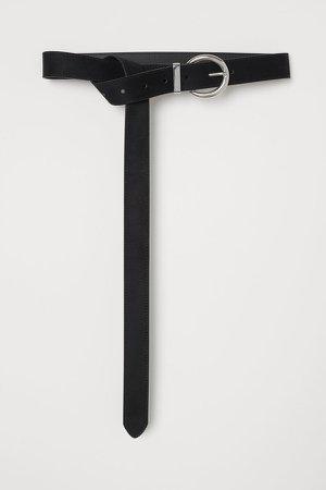 Long Waist Belt - Black